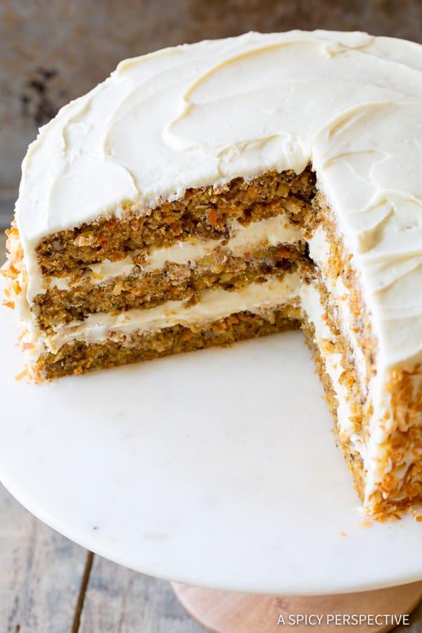 The Best Carrot Cake Recipe | ASpicyPerspective.com