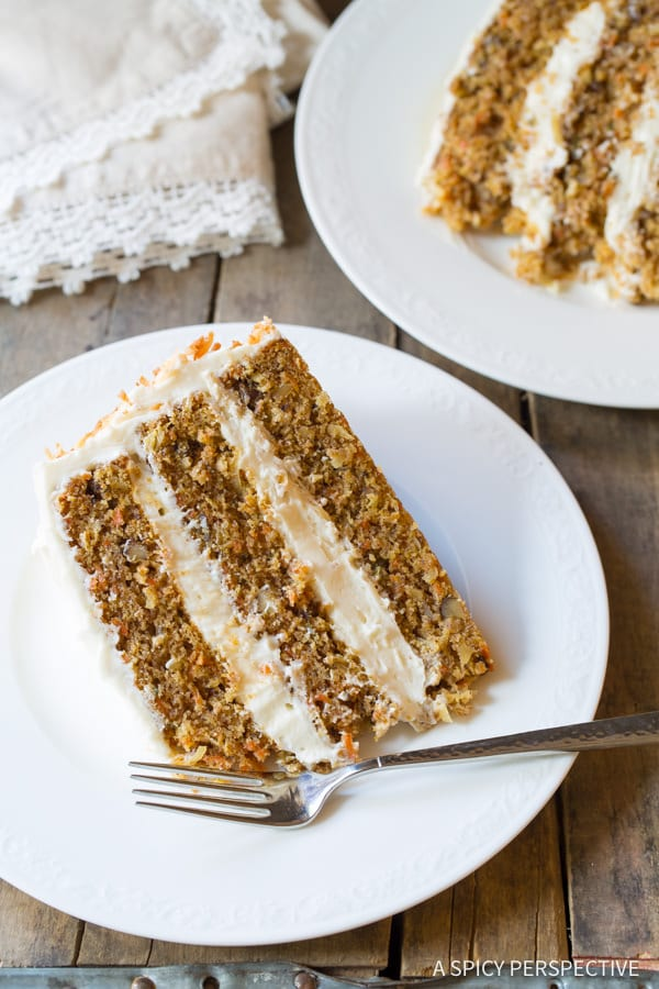 The Best Carrot Cake Recipe (Easy to Make!) | ASpicyPerspective.com