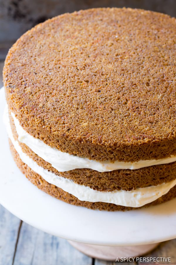 TDF! The Best Carrot Cake Recipe (Easy to Make!) | ASpicyPerspective.com