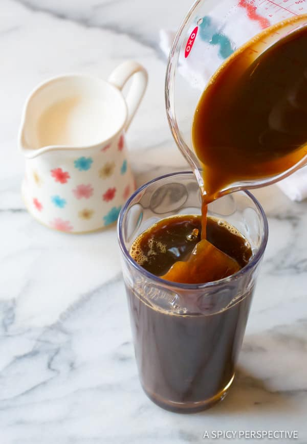 Making the Ultimate Iced Coffee - Tips for making the BEST iced coffee! | ASpicyPerspective.com