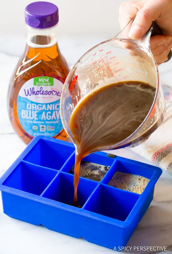Making Coffee Ice Cubes
