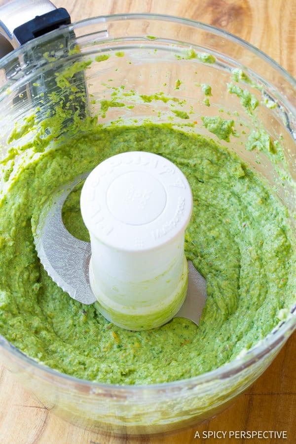 How to Make Avocado Pesto Recipe   ASpicyPerspective.com