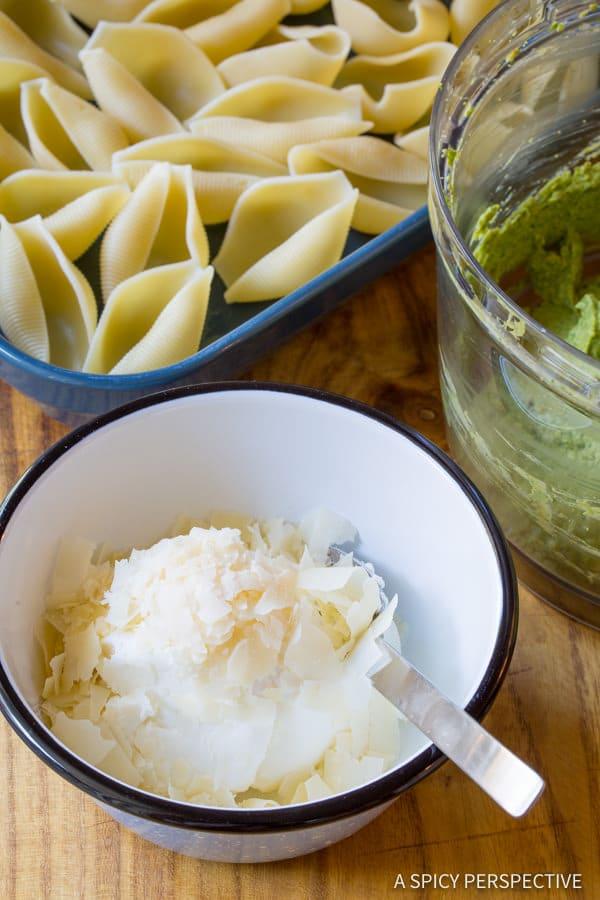 Making Avocado Pesto Stuffed Shells Recipe   ASpicyPerspective.com