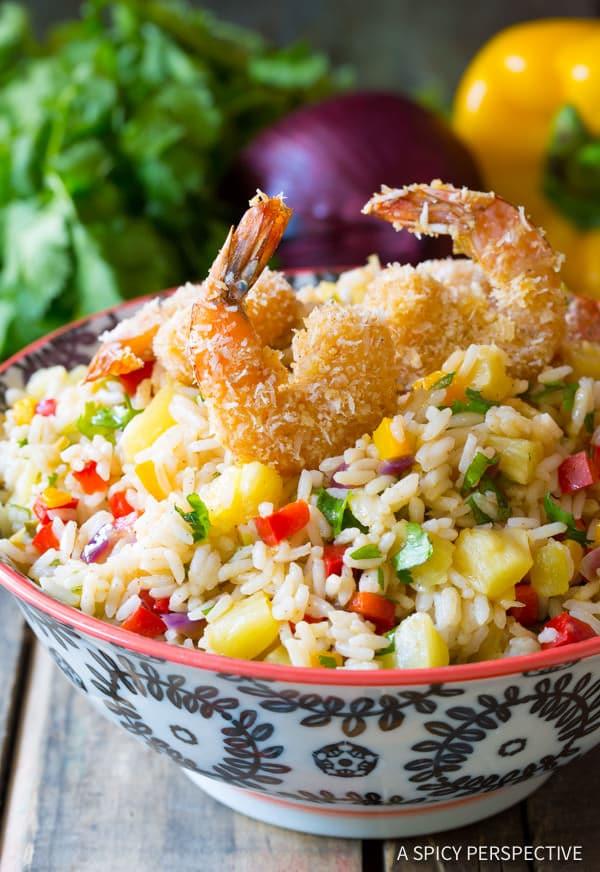 Fragrant Caribbean Confetti Rice | ASpicyPerspective.com