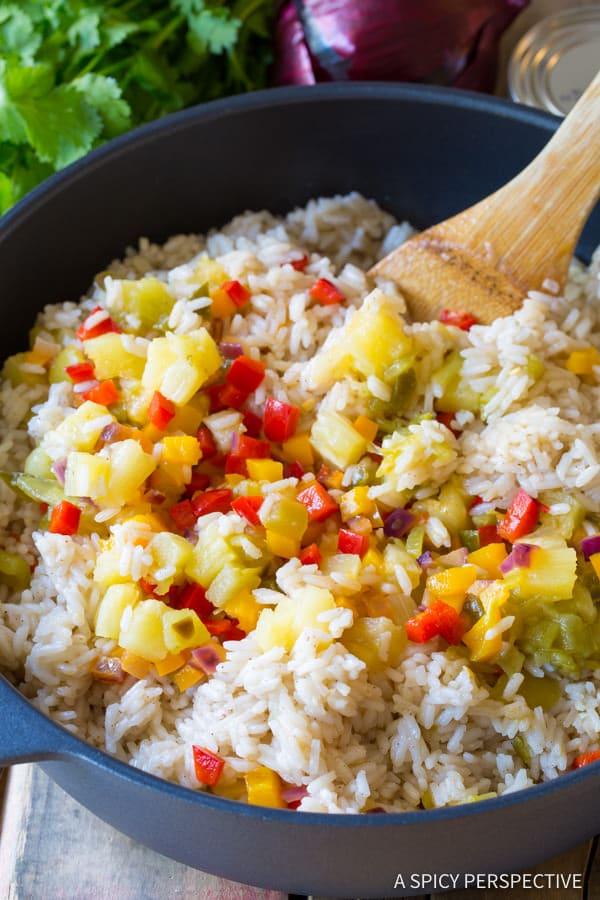 Vibrant Caribbean Confetti Rice | ASpicyPerspective.com