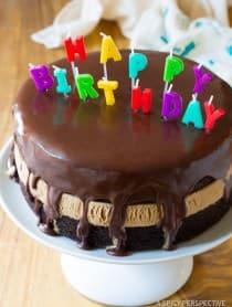 Easy Chocolate Caramel Ice Cream Sandwich Cake Recipe   ASpicyPerspective.com