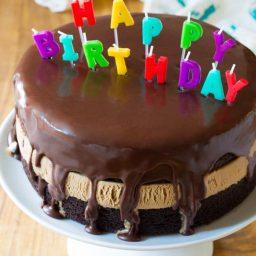 Easy Chocolate Caramel Ice Cream Sandwich Cake Recipe | ASpicyPerspective.com