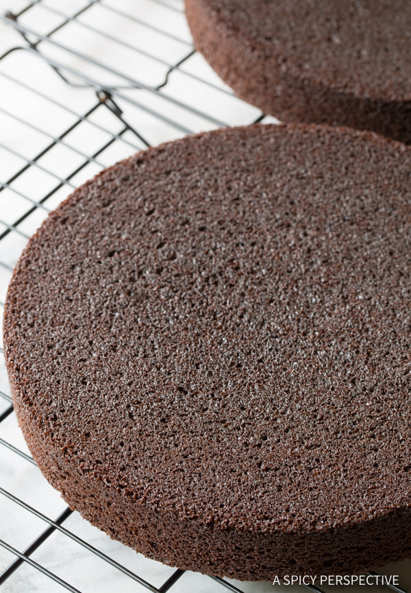 Making Chocolate Caramel Ice Cream Sandwich Cake Recipe | ASpicyPerspective.com