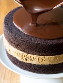 Must-Make Chocolate Caramel Ice Cream Sandwich Cake Recipe   ASpicyPerspective.com