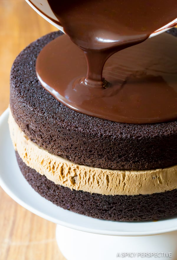 Must-Make Chocolate Caramel Ice Cream Sandwich Cake Recipe | ASpicyPerspective.com