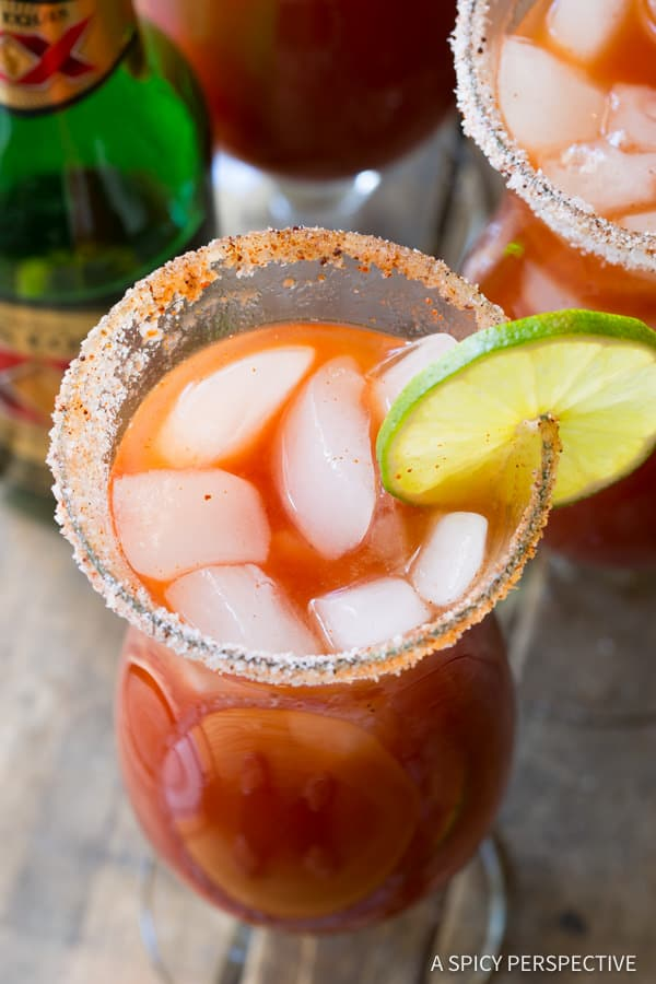 Easy Michelada Recipe (Mexican Cocktail) | ASpicyPerspective.com