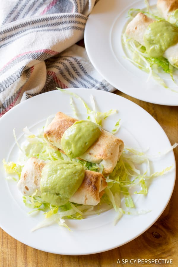 Saucy Mini Baked Chimichanga Recipe | ASpicyPerspective.com