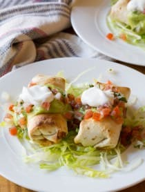Simple Mini Baked Chimichanga Recipe | ASpicyPerspective.com