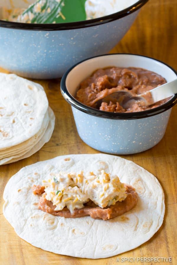 How to Make Mini Baked Chimichanga Recipe | ASpicyPerspective.com