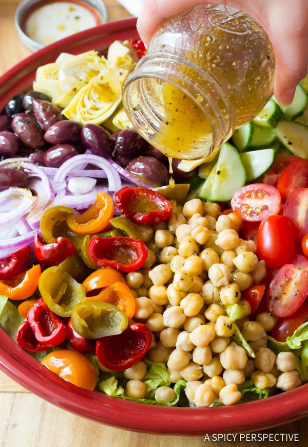 Fresh and Crunchy - My Big Fat Greek Salad Recipe | ASpicyPerspective.com
