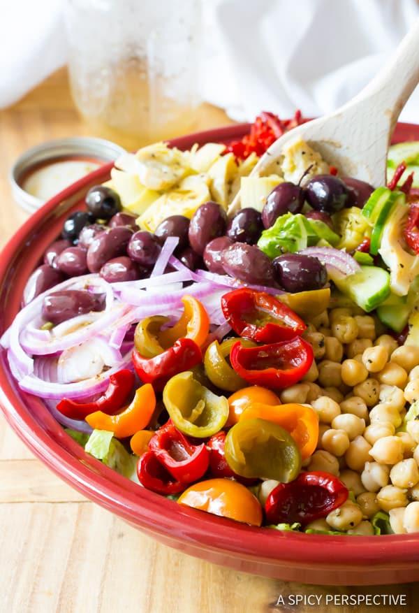 Fabulous - My Big Fat Greek Salad Recipe | ASpicyPerspective.com