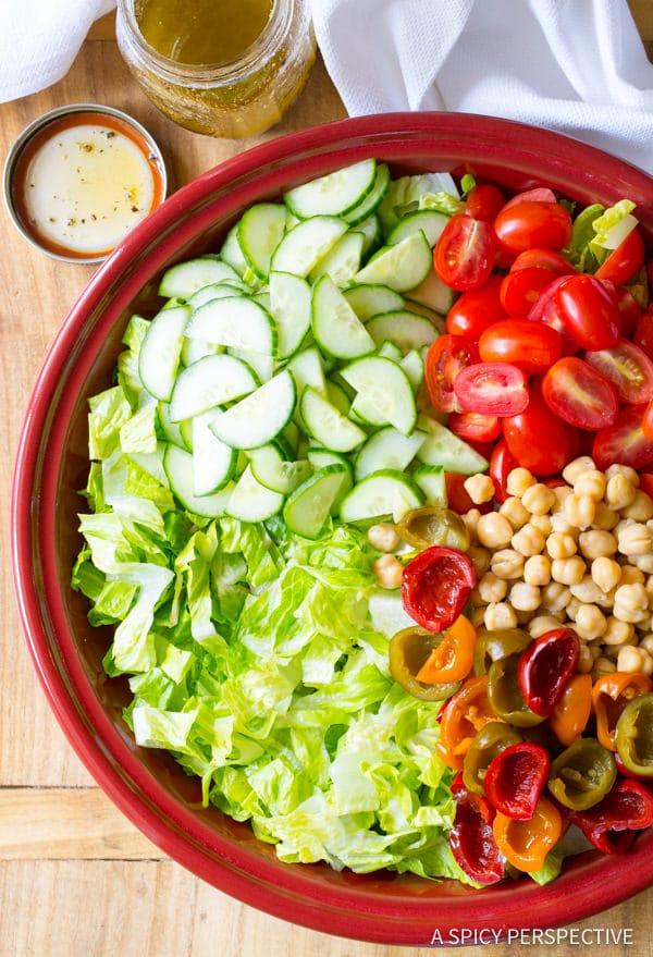 Ho to Make My Big Fat Greek Salad Recipe | ASpicyPerspective.com
