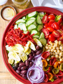 My Big Fat Greek Salad Recipe | ASpicyPerspective.com