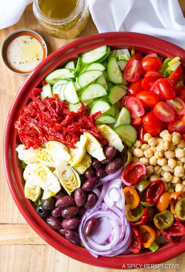 My Big Fat Greek Salad Recipe   ASpicyPerspective.com
