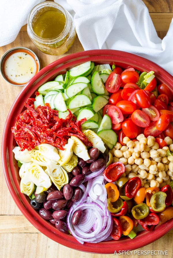 Sharing My Big Fat Greek Salad Recipe | ASpicyPerspective.com