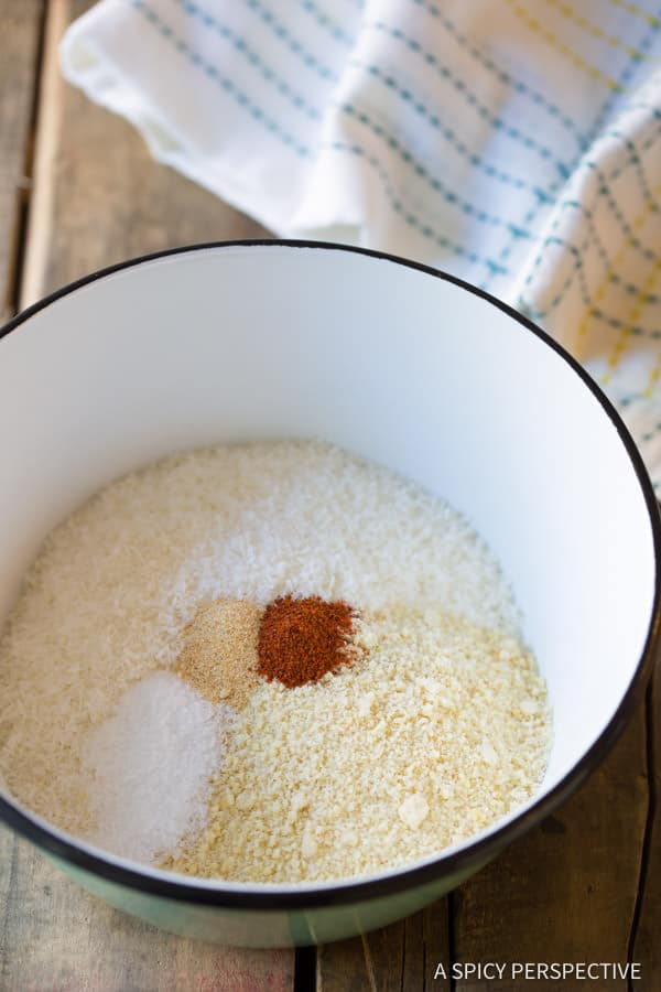 Coating - Paleo Coconut Shrimp Recipe (Pina Colada Shrimp & Gluten Free!) | ASpicyPerspective.com
