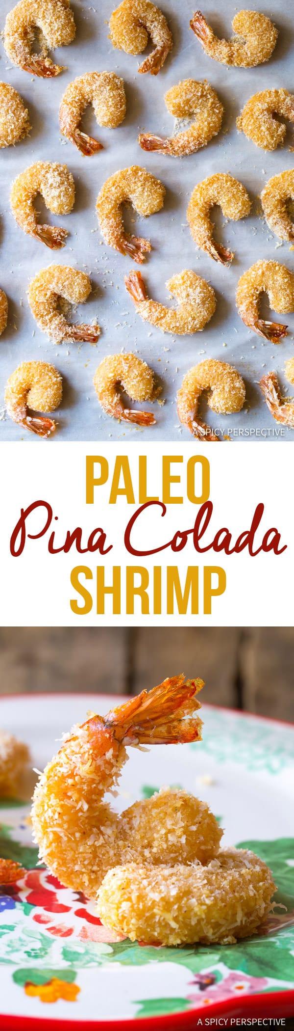Healthy Paleo Coconut Shrimp Recipe (Pina Colada Shrimp & Gluten Free!) | ASpicyPerspective.com