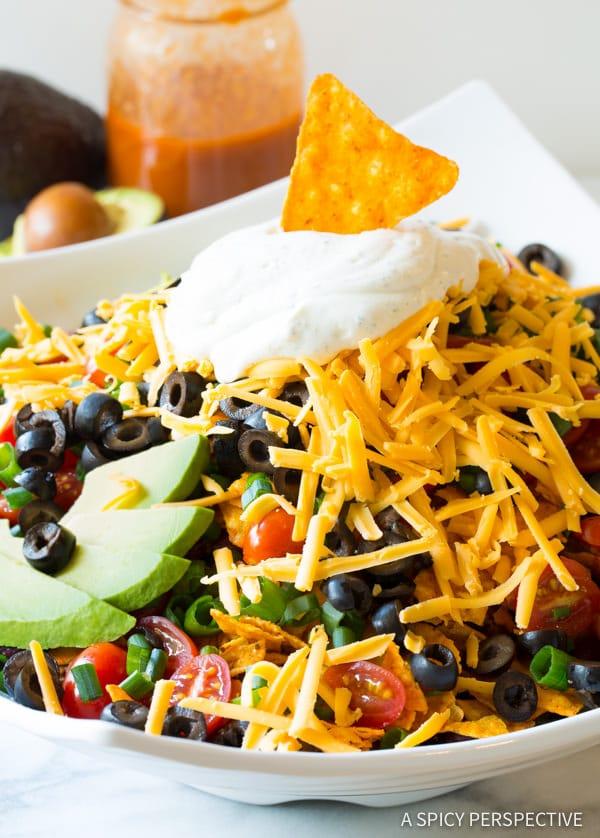 All-American The Ultimate Dorito Taco Salad Recipe   ASpicyPerspective.com