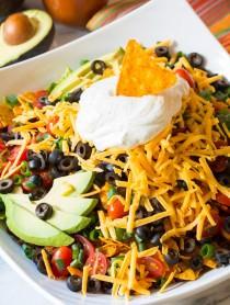 Crazy over this - The Ultimate Dorito Taco Salad Recipe | ASpicyPerspective.com