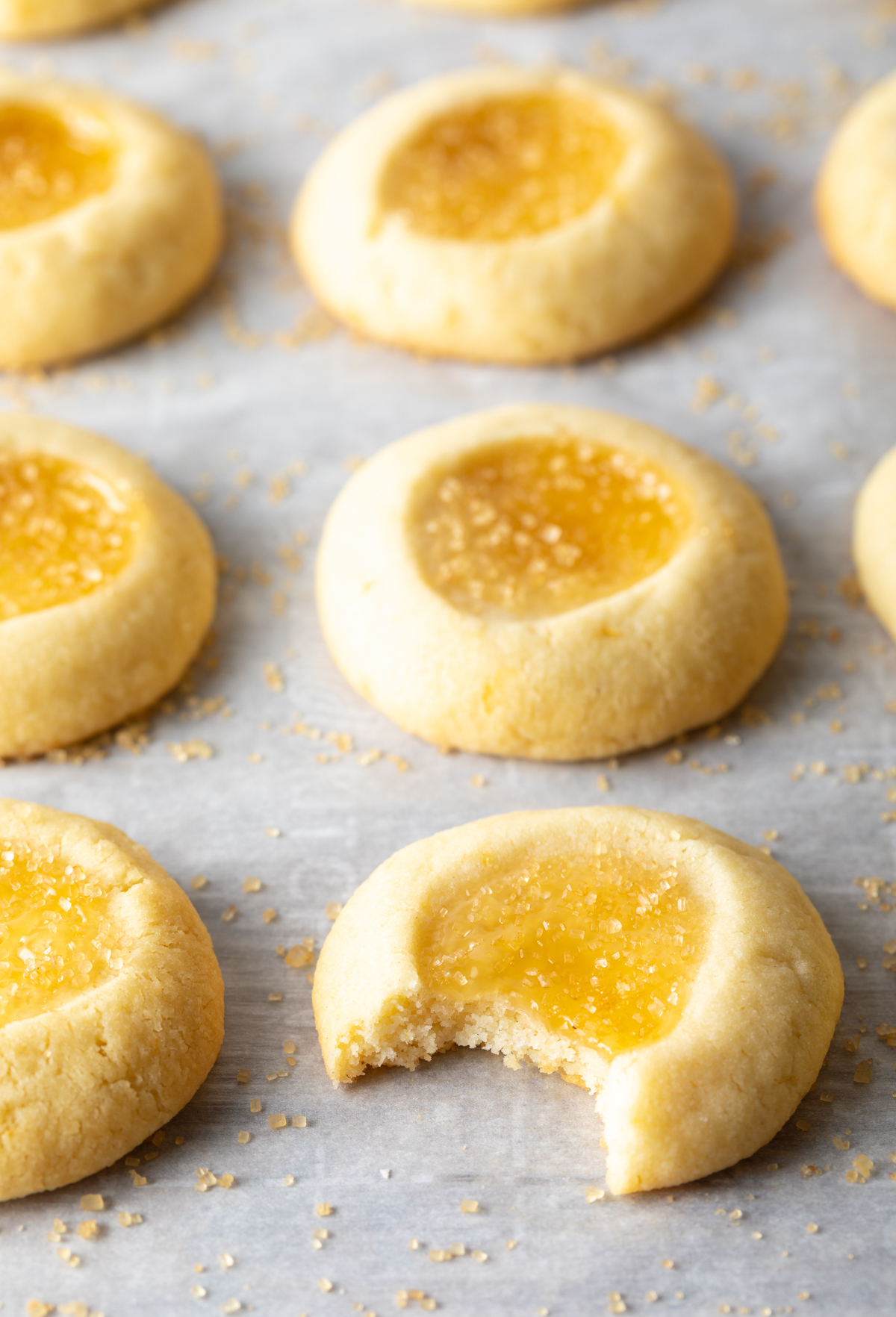 Sparkly Lemon Drop Thumbprint Cookies Recipe