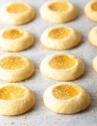 Lemon Drop Thumbprint Cookies