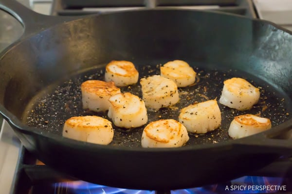 How to Make 5-Ingredient Easy Scallop Scampi Recipe | ASpicyPerspective.com