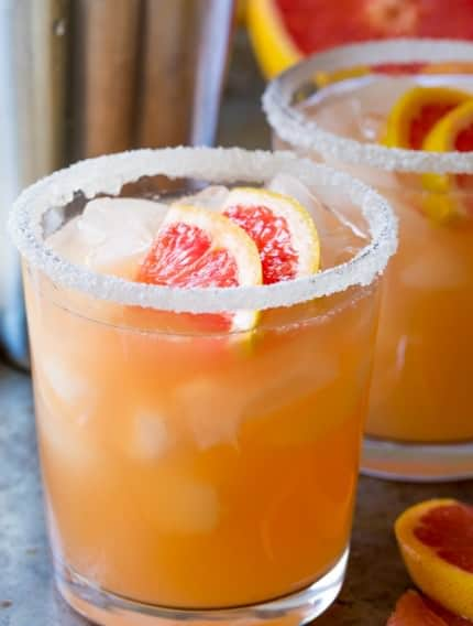 Pink Grapefruit Margarita Recipe | ASpicyPerspective.com