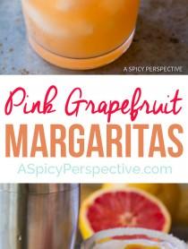Perky Pink Grapefruit Margarita Recipe   ASpicyPerspective.com
