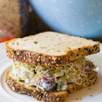 The BEST Greek Chicken Salad Sandwiches (Low Fat & High Protein)