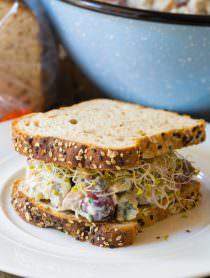 The BEST Greek Chicken Salad Sandwiches (Low Fat & High Protein)