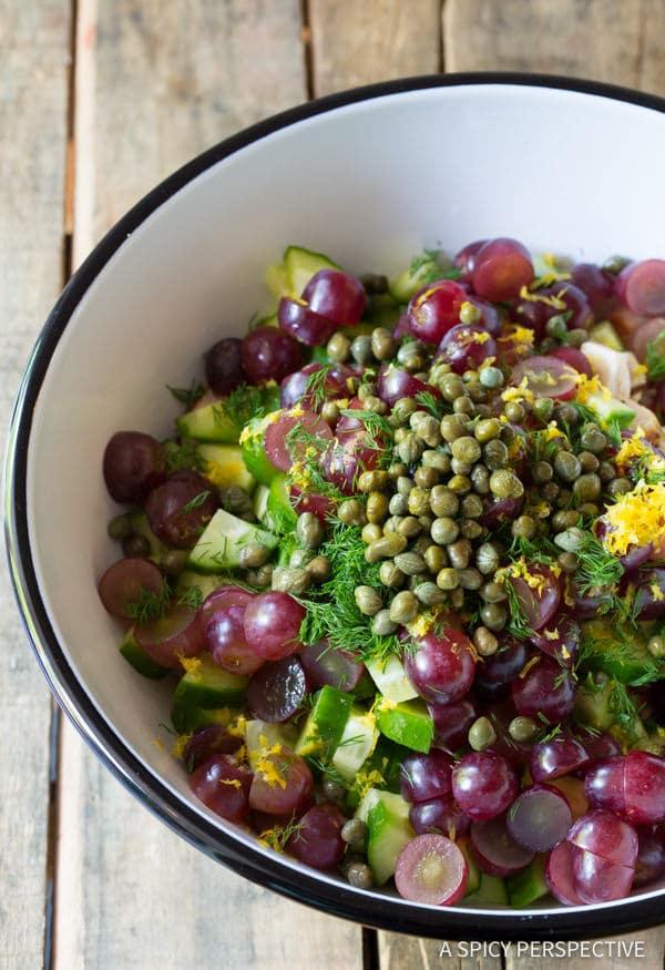 Amazing Greek Chicken Salad Sandwiches (Low Fat & High Protein)   ASpicyPerspective.com
