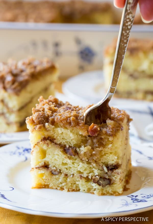 Crumbly Kahlua Coffee Cake Recipe | ASpicyPerspective.com