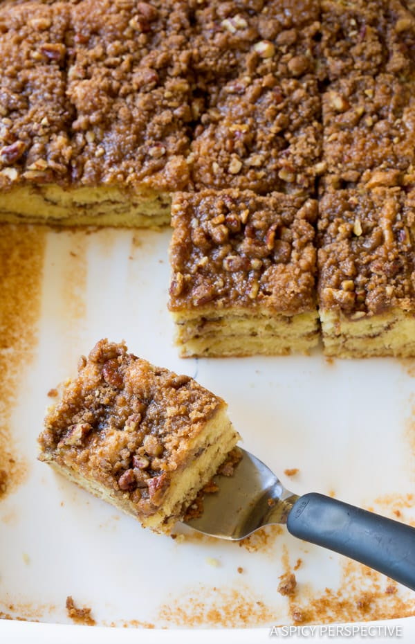 Moist Kahlua Coffee Cake Recipe | ASpicyPerspective.com