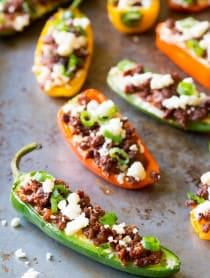 Loaded Stuffed Jalapeños | ASpicyPerspective.com