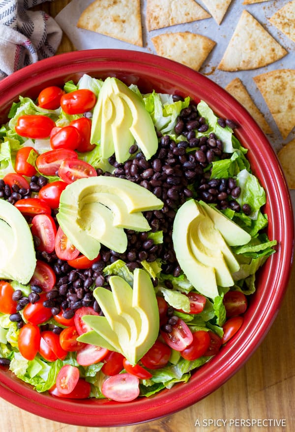 Love this Mexican Breakfast Salad | ASpicyPerspective.com