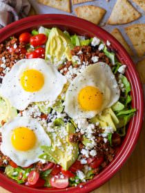Mexican Breakfast Salad | ASpicyPerspective.com