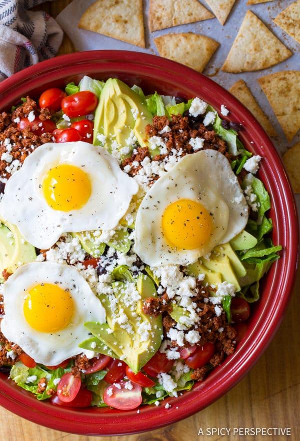 Mexican Breakfast Salad | ASpicyPerspective.com