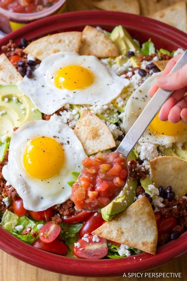 Spicy Mexican Breakfast Salad   ASpicyPerspective.com