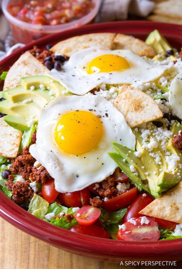 Crunchy Mexican Breakfast Salad   ASpicyPerspective.com