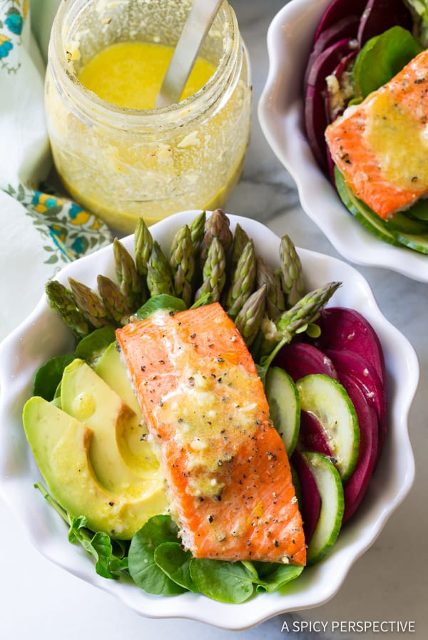 Must-Make Roasted Salmon Detox Salad Recipe | ASpicyPerspective.com