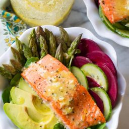Roasted Salmon Detox Salad Recipe | ASpicyPerspective.com