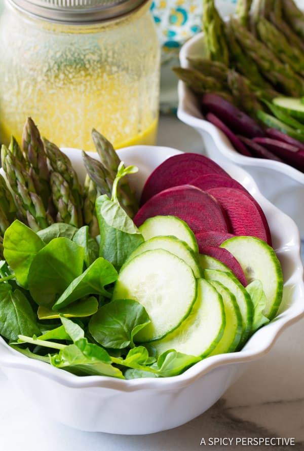 Make our Roasted Salmon Detox Salad Recipe | ASpicyPerspective.com