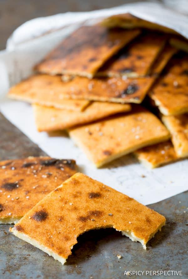 Healthy Fresh Socca Recipe (Farinata) Gluten Free Chickpea Flatbread | ASpicyPerspective.com