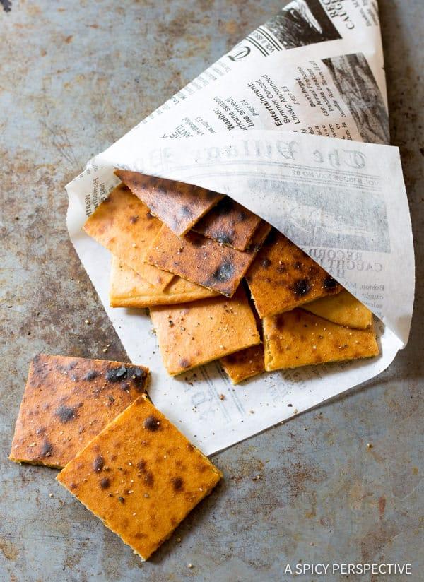 Perfect Fresh Socca Recipe (Farinata) Gluten Free Chickpea Flatbread | ASpicyPerspective.com
