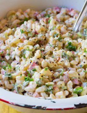 The Best Macaroni Salad Recipe | ASpicyPerspective.com